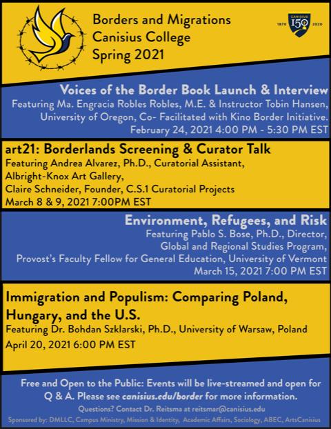 Border & Migrations Spring 2021 Events