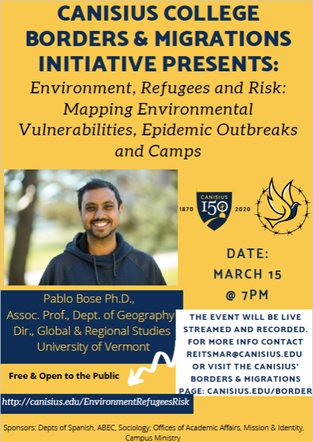 Environment, Refugees and Risk: Dr. Pablo Bose
