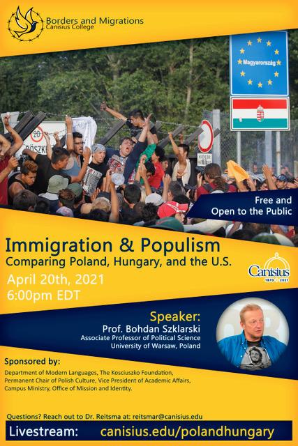 Professor Bohdan Szklarski: Immigration and Populism