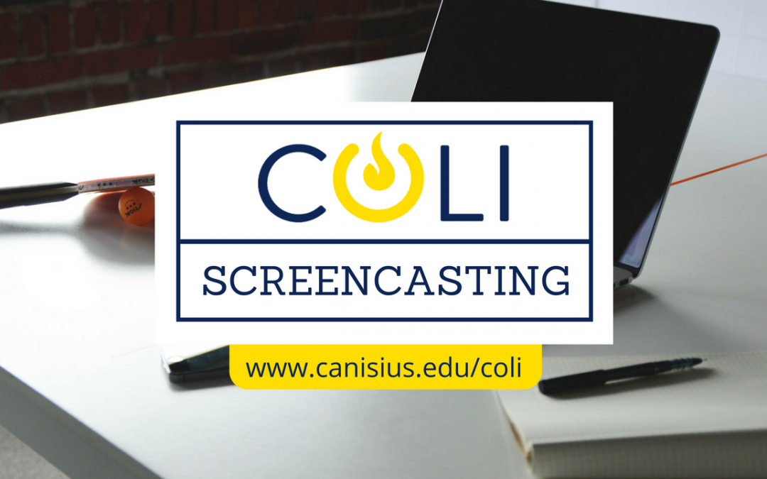 Upcoming workshop: Start Screencasting!