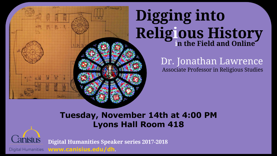 Digital Humanities Speaker Series: Dr. Jonathan Lawrence