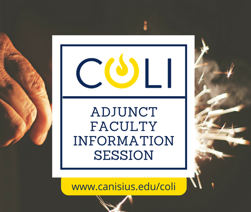 Adjunct Faculty Information Session: January 2020