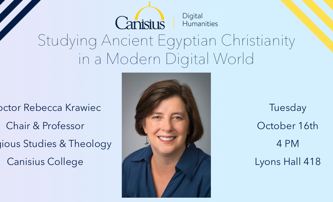 Digital Humanities Speaker Series: Dr. Rebecca Krawiec