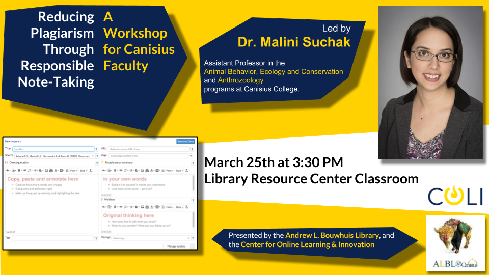 Workshop for Faculty: Reducing Plagiarism Through Responsible Note-Taking