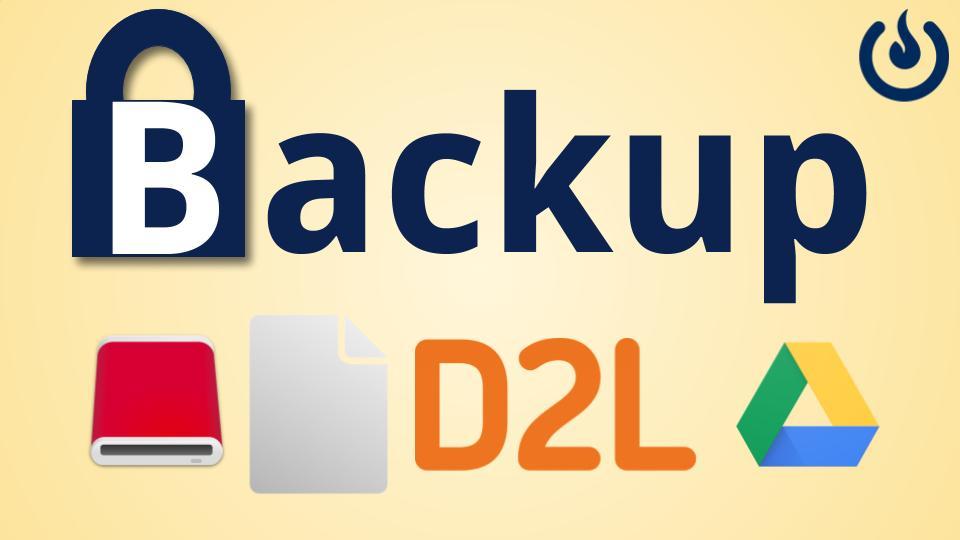 Backup!  Backup! Backup!