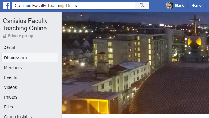 Facebook Group: Canisius Faculty Teaching Online