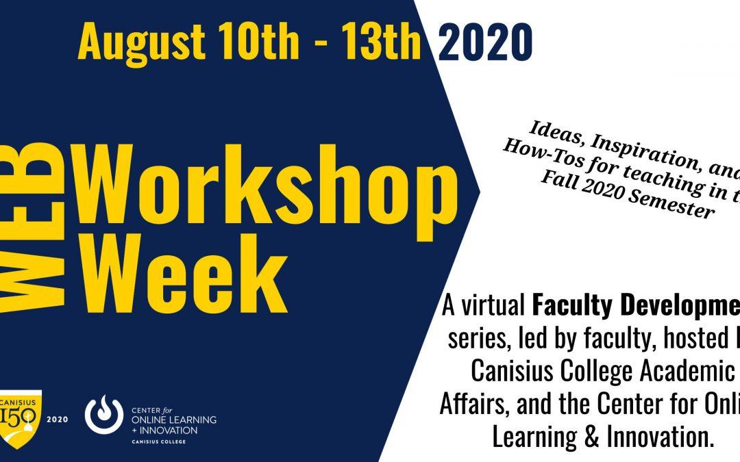August Web Workshop Week