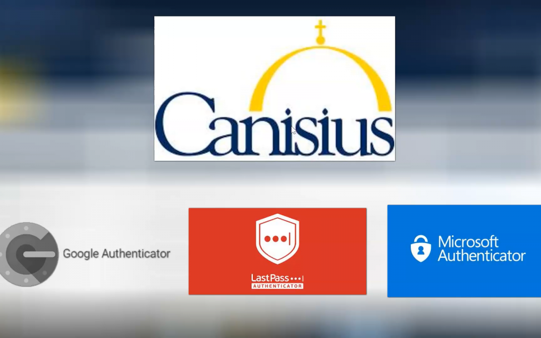 Using an Authenticator App at Canisius