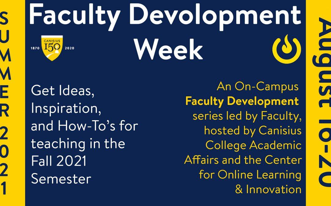 Summer 2021 Faculty Development Week