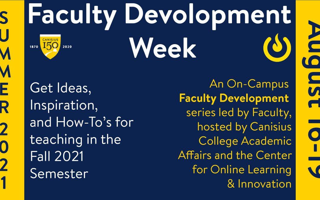 Summer Faculty Development Week 2021