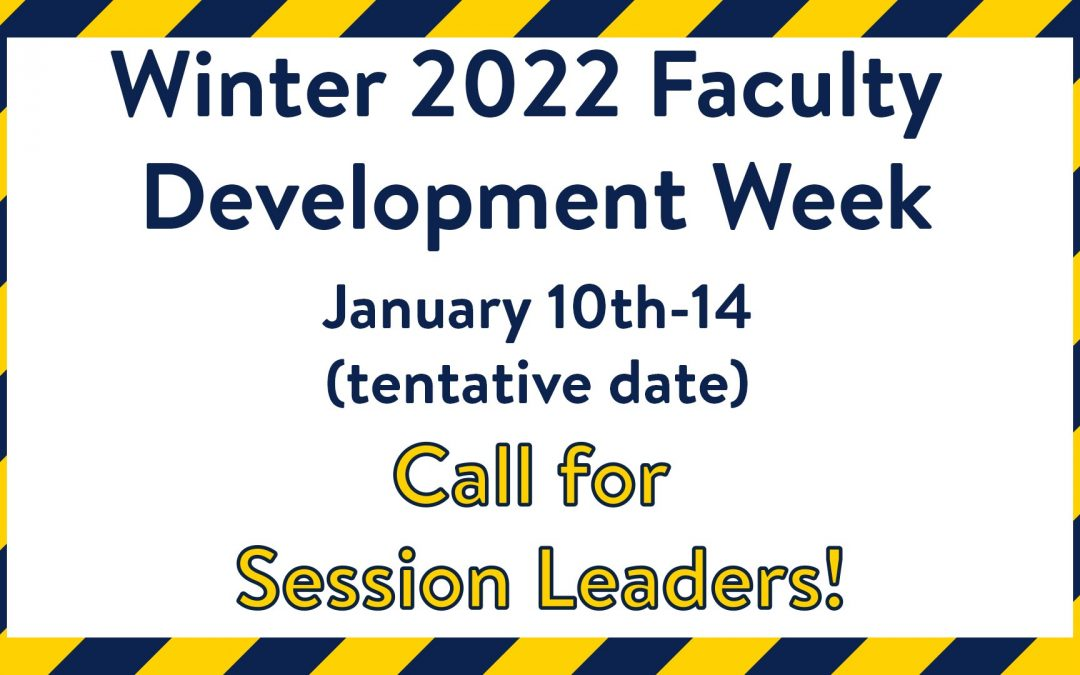 Call for Session Leaders!