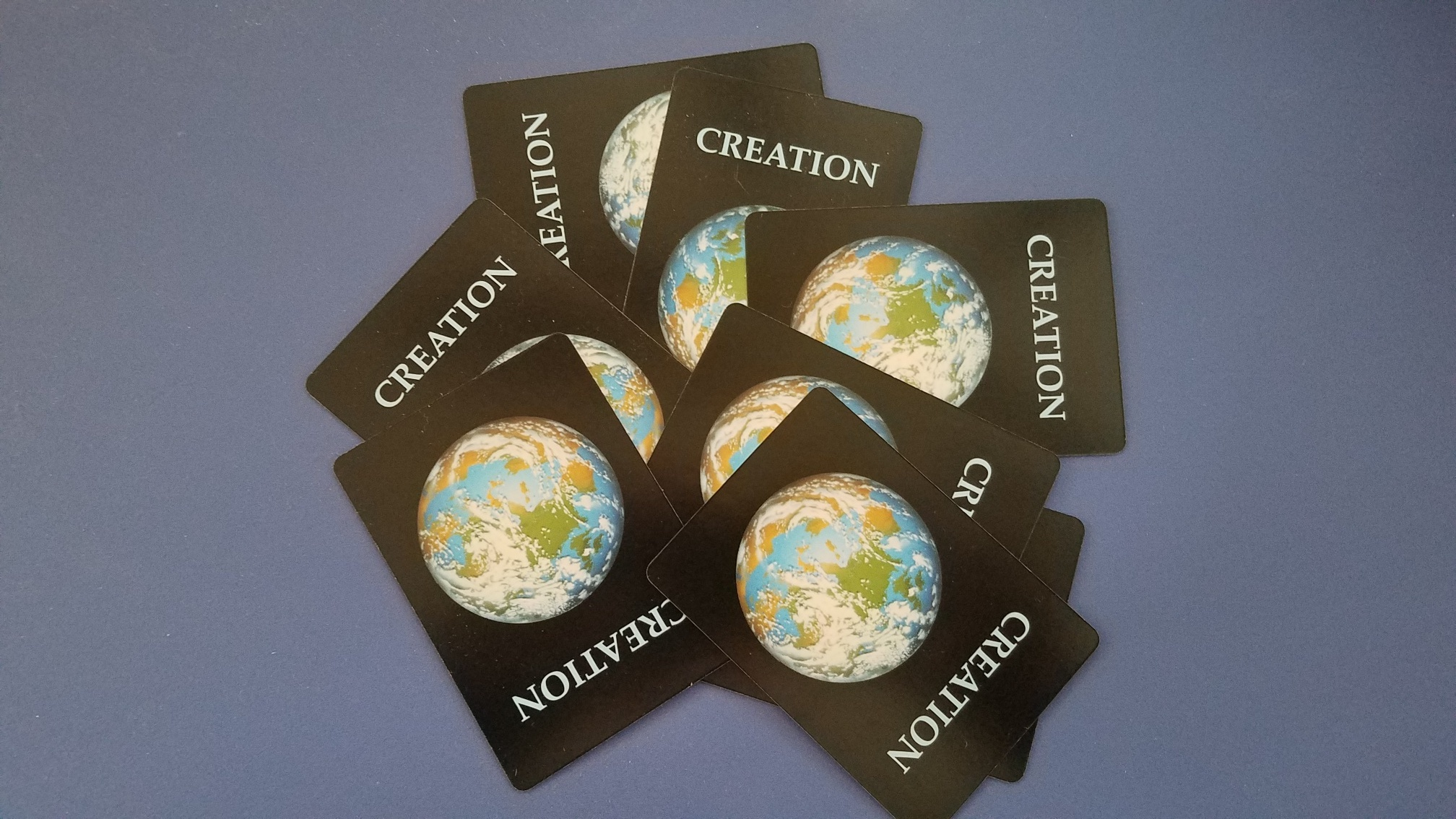 Image of card covers for Creation Card Game