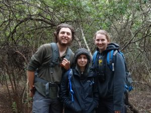 Domenic Romanello '18, Sydney Chertoff '18, and Margret Halfdanardottir '18 represent Team Ape in South Africa, 2017