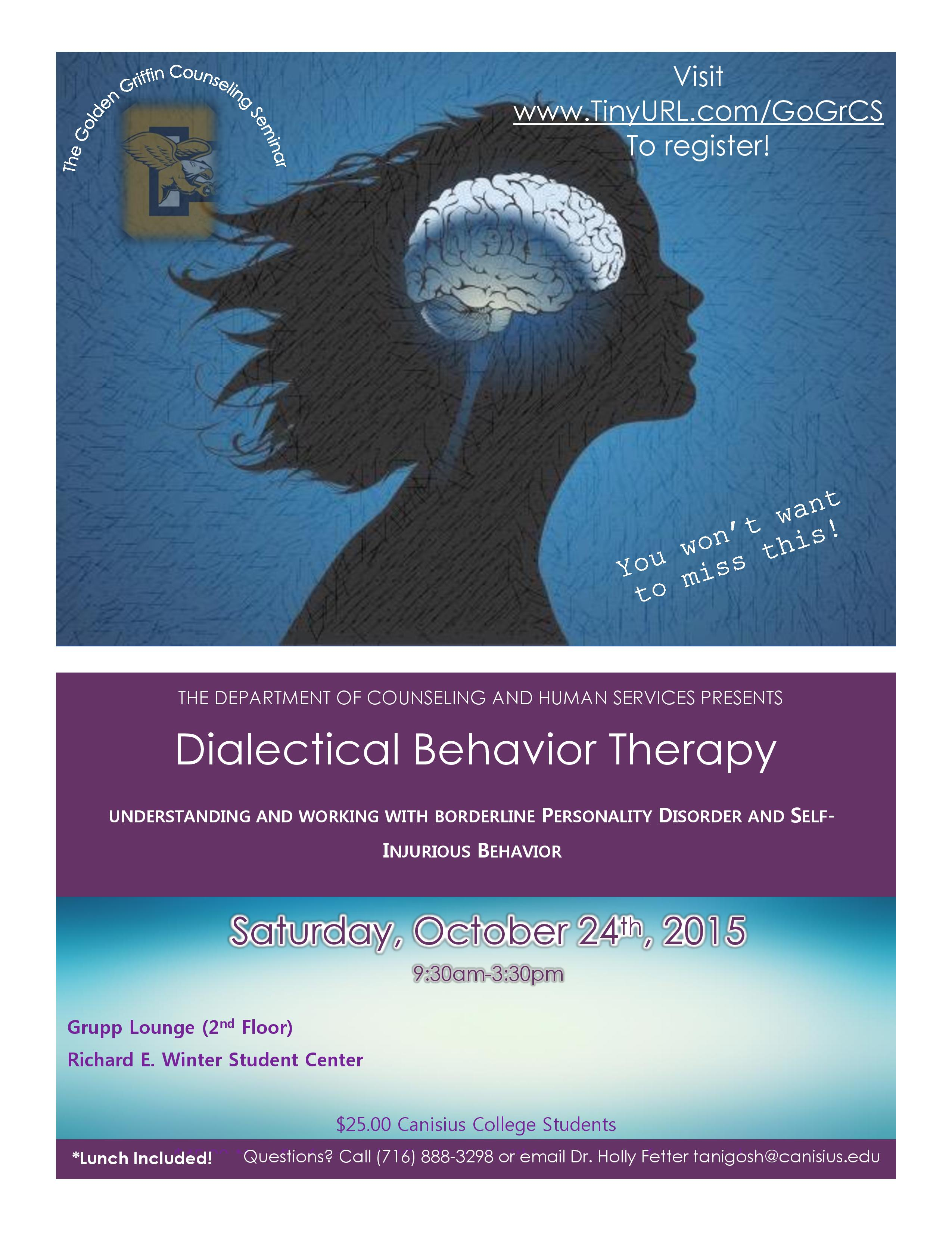 dialectical behavior therapy What is dialectical behavior therapy what is it used for what is it based on what are the four modules how does it help those with borderline personality disorder.