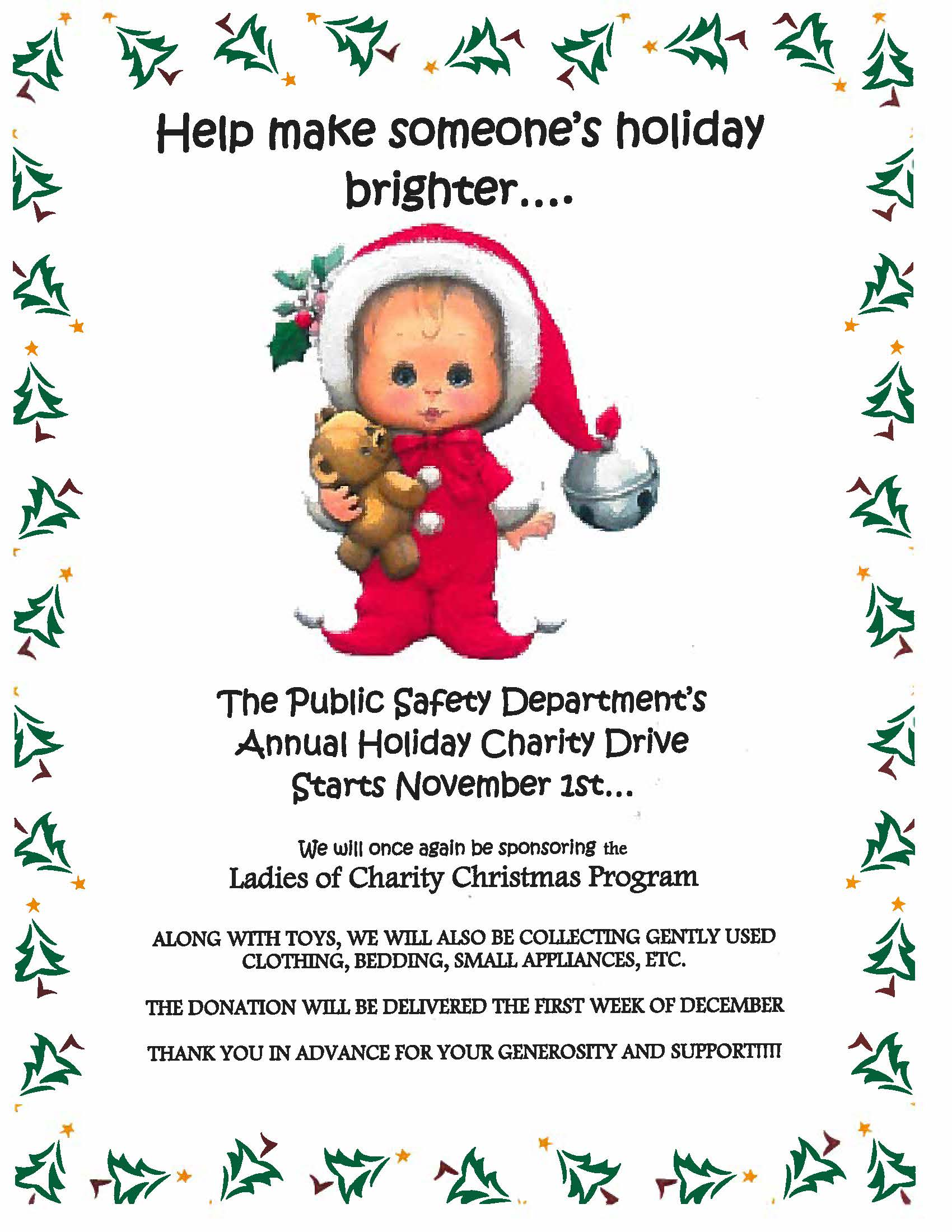 Christmas Gift Drive for Ladies of Charity | The Dome