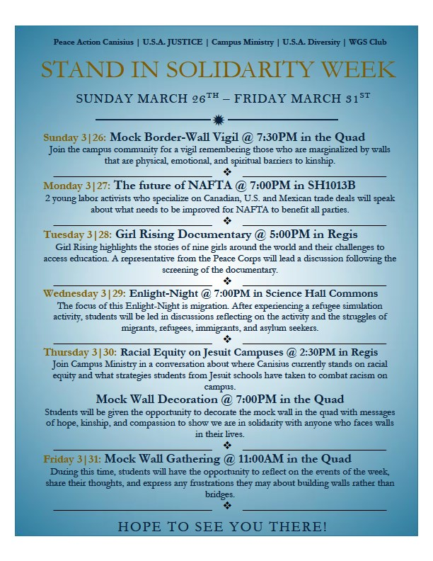 Stand in Solidarity Week Final Poster
