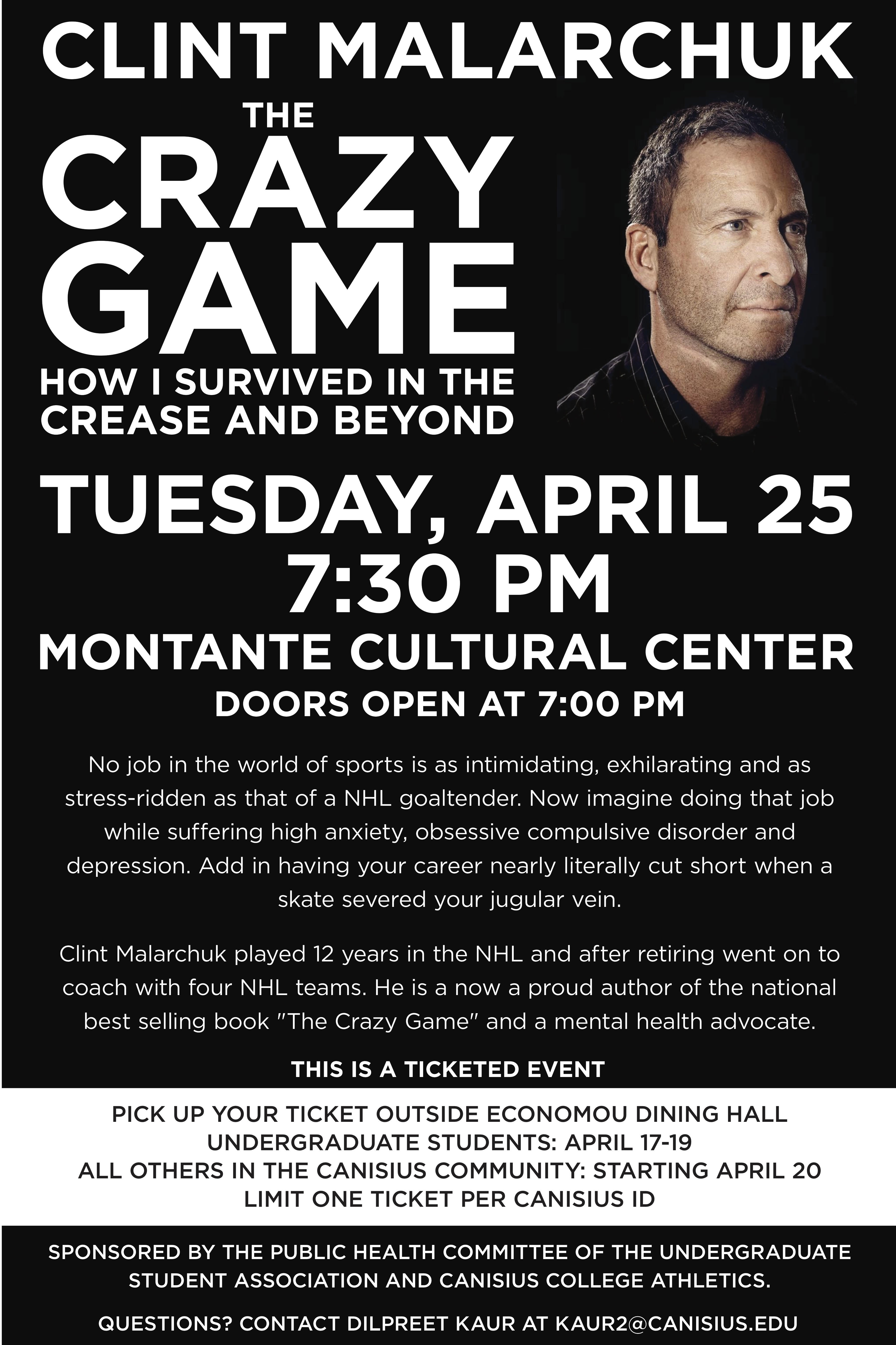Former Sabres Goaltender Clint Malarchuk To Speak On Campus The Dome