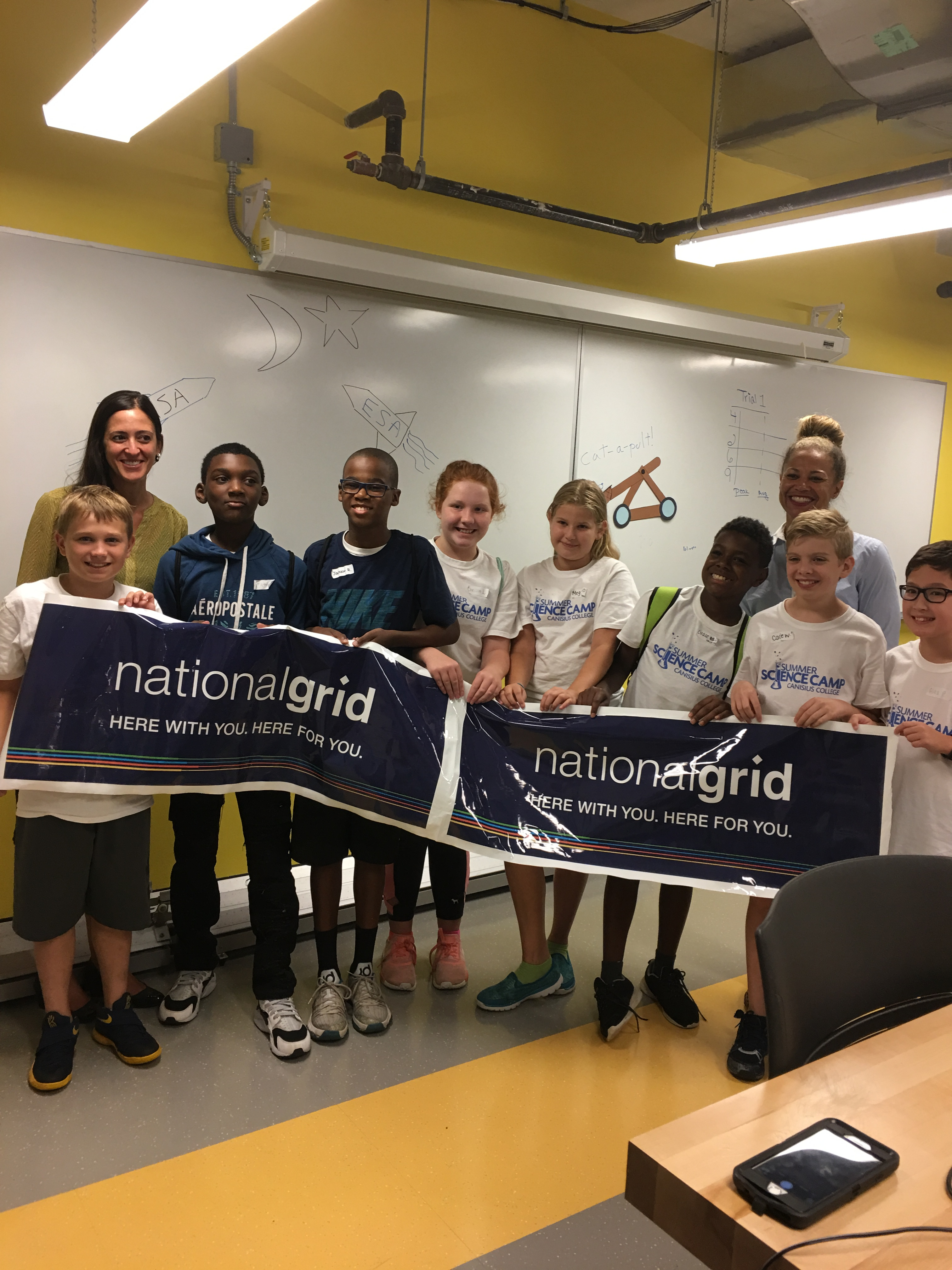 There were some happy campers at the canisius college summer science camp thanks to a 10 000 grant from national grid the grant which will support