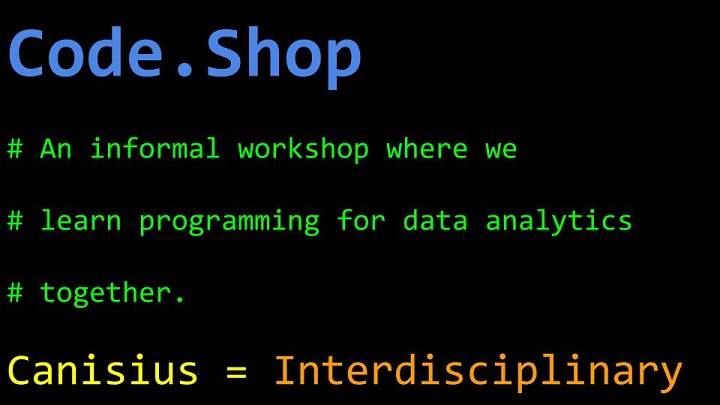 Want to learn Data Analytics? Come to the Code Shop! | Today