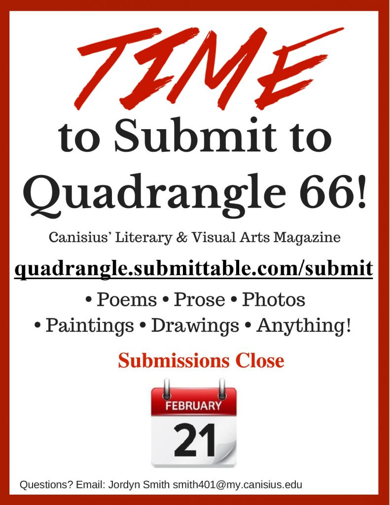 Submit this weekend to Quadrangle 66! Poetry, prose, photos