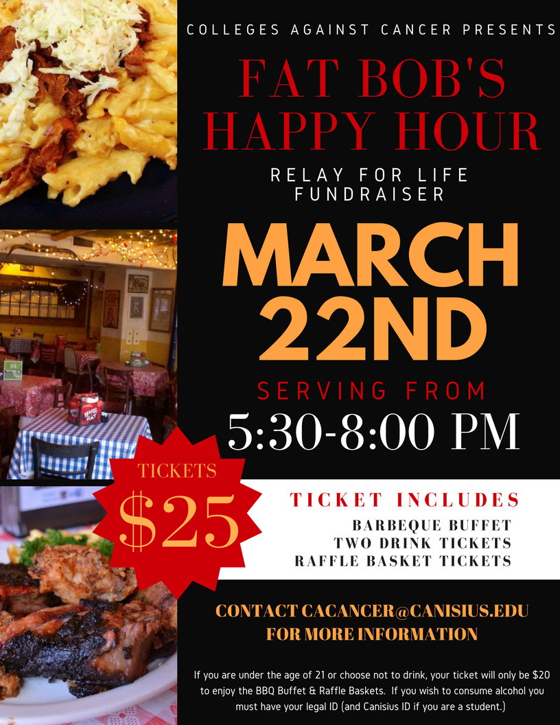 Fat Bob S Happy Hour Relay For Life Fundraiser Today