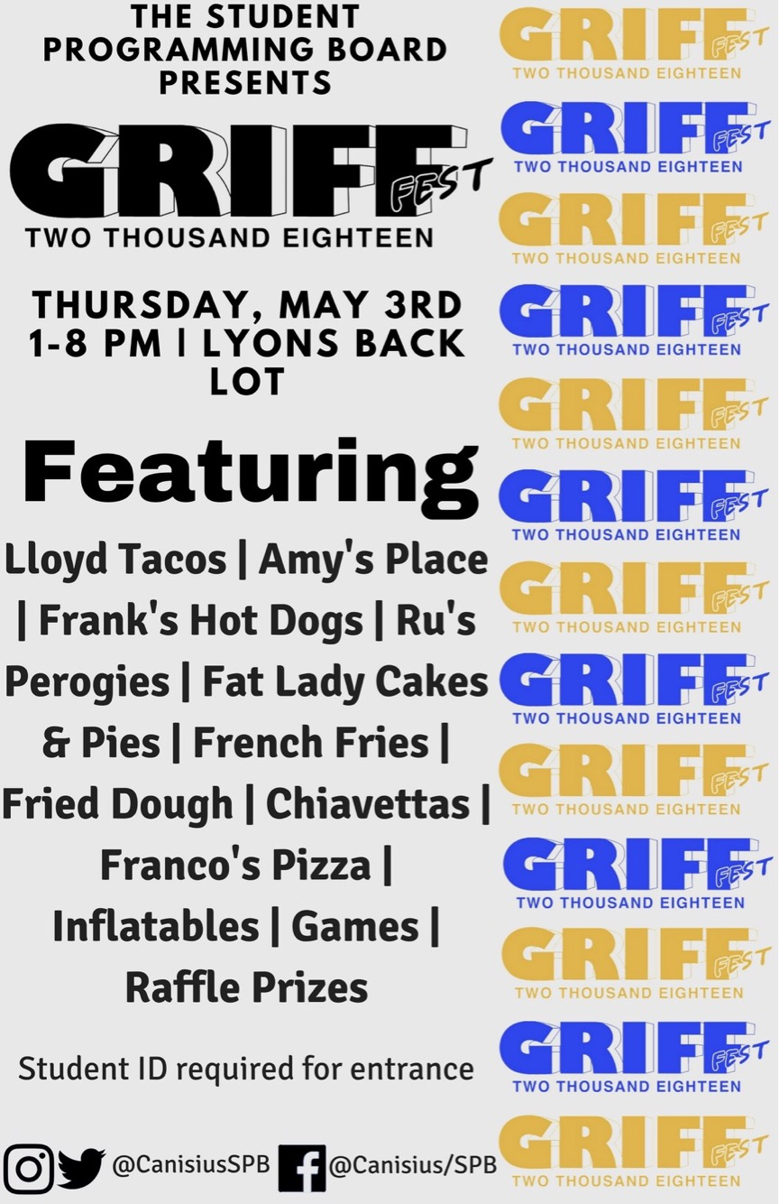 GRIFF FEST IS THURSDAY MAY 3!  sc 1 st  Canisius College Blogs & Today@Canisius | Your daily email for campus events and announcements.